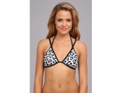 87% off Hurley Leopard Rem S/C Fixed Triangle Bikini Top