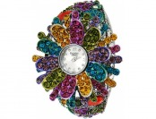 91% off American Exchange Silver Plated Flower Bangle Antique Watch