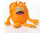 80% off Kids Orange Fuzzy Monster Backpack