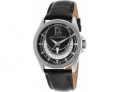 94% off Ted Lapidus Women's Black Genuine Leather Black Dial Watch