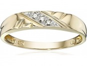 68% off 10k Yellow Gold Diagonal Diamond Women's Wedding Band