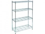 "20% off HDX 53.7"" x 35.7"" x 14"" 4-Tier Wire Shelf in Chrome"