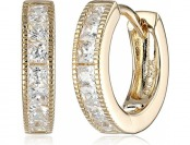 "68% off Judith Jack ""Golden Class"" Sterling Silver Huggie Hoop Earrings"