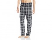 72% off Nautica Men's Black Plaid Sueded Fleece Pant