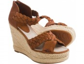 62% off Blackstone FL53 Leather Wedge Sandals (For Women)