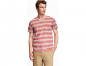 58% off Old Navy Striped V Neck Tee For Men (reg, big, & tall sizes)