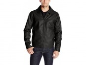 77% off Sportier Men's Faux Leather Jacket, Black