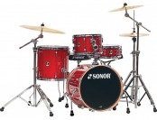 $271 off Sonor Safari 4-Piece Shell Pack, Red Galaxy Sparkle