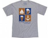 79% off West Marine Men's Happy Hour Tee, Gray, XL
