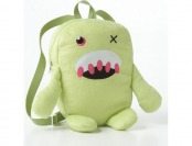 80% off Kids Light Green Fuzzy Monster Backpack