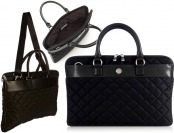 "$50 off Knomo Bayswater 15"" Avignon Slim Brief Black Bag"