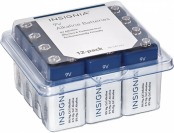 40% off Insignia 9v Batteries (12-pack) - White/blue