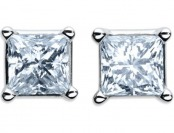 $7,600 off Women's 1 Cttw. Diamond White Gold Stud Earrings