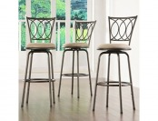 72% off Home Creek Adjustable Swivel Barstools - Set of 3