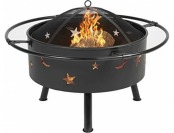 "$70 off 30"" Fire Pit Cooking Grill FireBowl Outdoor Patio Fireplace"