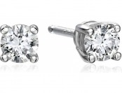 77% off 14k White Gold Lab Diamond Stud Earrings (1/4 cttw)