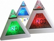 $12 off Pyramid Temperature Color Change LED Alarm Clock