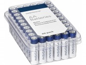 44% off Insignia AA Batteries (60-pack) - White / Blue