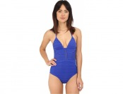 $116 off JETS by Jessika Allen Parallels Plunging V-Neck Swimsuit