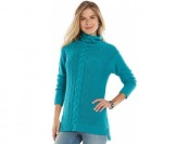 90% off Women's Chaps Cable-Knit Tunic Sweater