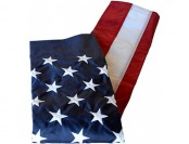 60% off American Flag 2.5'x4' Nylon SolarGuard Nyl-Glo, Made in USA