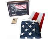 61% off American Flag 3'x5' Nylon SolarGuard Nyl-Glo, Made in USA