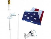 62% off American Flag and Flagpole Set - 6' Spinning Pole 3'x5' Flag