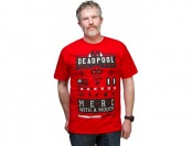 50% off Deadpool Street Icons Tee - Red
