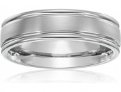 71% off Men's Titanium Round Edge Comfort-Fit Plain Wedding Band