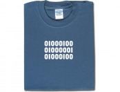 70% off Binary Dad T-Shirt - Blue Dusk, S