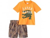 "60% off Boys 4-7 Carter's ""Later Gator"" Rashguard Swim Set"