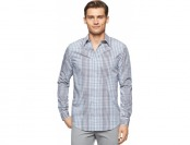 75% off Calvin Klein Men's Graphic Plaid Shirt