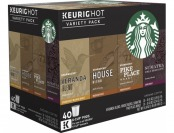 39% off Keurig Starbucks Variety Pack K-cups (40-pack)