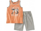 82% off Calvin Klein Little Boys' Tank Top & Shorts Set
