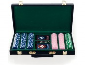 84% off Big City Casino 300 Striped Dice Poker Chip Set with Black Case