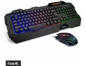 67% off HAVIT Rainbow Backlit Wired Gaming Keyboard and Mouse