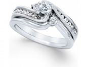 86% off Diamond Engagement Ring 1/2 cttw. 14k White or Yellow Gold