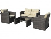 $570 off Giantex 4-PCS Cushioned Wicker Patio Sofa Set