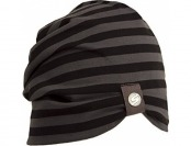 82% off SUPERYELLOW Women's Slouchy Beanie in Cotton, Black/Grey