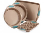 47% off Rachael Ray Cucina 4-Pc. Agave Blue Nonstick Bakeware Set