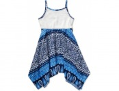 77% off Sweet Heart Rose Girls' White & Blue Sundress