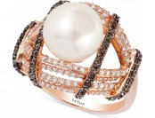 75% off Le Vian Chocolatier Fresh Water Pearl and Diamond Ring