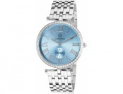 89% off Cabochon Carlita Stainless Steel Light Blue Dial Watch
