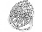 62% off Effy Diamond Oval Ring (1-1/4 cttw.) in 14k White Gold
