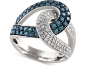 $4,021 off Effy Diamond Loop Ring (1 cttw.) in 14k White Gold