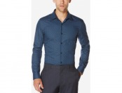 64% off Perry Ellis Men's Geo-Print Long-Sleeve Shirt