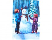 62% off Kids Snowman Garden Flag, Blue