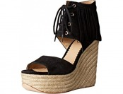 82% off Ash Women's Belinda Espadrille Wedge Sandal, Black