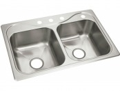 57% off Sterling Southhaven SS Double Bowl Kitchen Sink