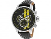 87% off Invicta Men's S1 Rally GMT Chrono Leather Watch